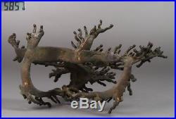 Japanese Old Wave Bronze Statue / W 21.6× D 12.5× H 13.3 cm / Meiji Period