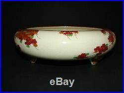 Japanese Satsuma Earthenware Meiji Period 3-toed Large shallow Bowl