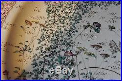 Japanese Satsuma plate signed Taizan Yohei IX. Antique Meiji period. 7 ¼ d