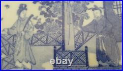 Japanese blue white vintage Victorian Meiji Period oriental antique wall plate B