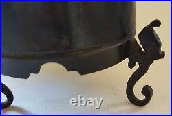 Japanese bronze vintage Victorian Meiji Period oriental antique dragon koro vase