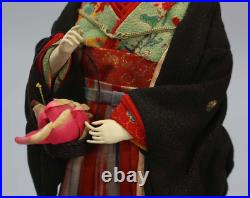 Japanese tradition antique doll The Meiji period costume dolls 3-Piece Set