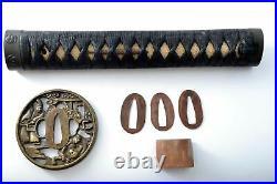 Katana Japanese sword antique 71.0cm blade Mumei Meiji Period Koshirae