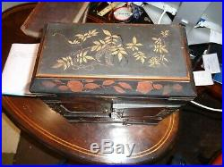 Lacquered Japanese meiji period cabinet