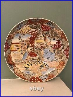 Large Japanese Satsuma Charger Antique, Late Meiji Period