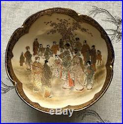 Late Meiji Period Japanese Satsuma Pottery Bowl