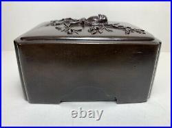 Meiji Period Bronze Box Signed