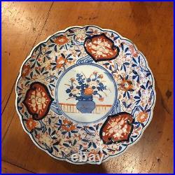 Meiji Period Japanese Imari scalloped antique plate