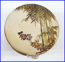 Meiji Period Japanese Porcelain Erotica Satsuma Box Hand Painted Scenes Inside