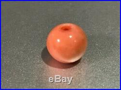 Meiji period Japanese antique coral loose bead ojime 18