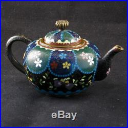 Miniature Japanese cloisonné teapot Meiji Period