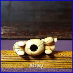 Netsuke Japanese Antique Brothers and Balls Edo-Meiji Period Carving Okimono