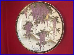 Original Handpainted japanese Satsuma meiji period Side plate signed c 1920s