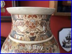 Outstanding Japanese Satsuma Vase Meiji Period Circa 1880