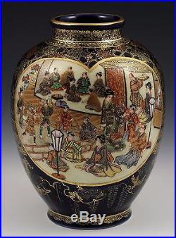 Outstanding Signed Kinkozan Japanese Meiji Period Satsuma Vase