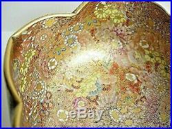 Outstanding`antique Japanese`satsuma (meiji Period) Mille Fleur Gilded `bowl