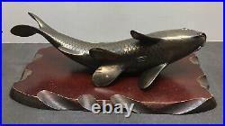 Pair Of Fine Japanese Meiji Period Bronze Okimono Koi-fish, Signed