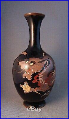 Quality Silver Wire Cloisonne Vase Japanese Meiji period