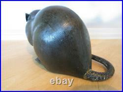 REDUCED Japanese Bronze Rat Okimono Meiji Period c1890 17cms Long