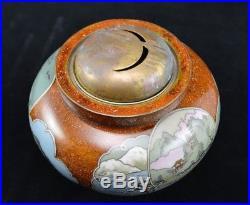 Rare Antique Japanese Cloisonne Incense Burner Meiji Period