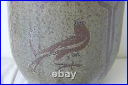 Rare Antique Japanese Shigaraki Meiji Period Vase 12 Tall