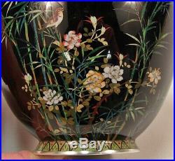 Rare Antique Meiji Period Hayashi Kodenji Japanese Cloisonne Enamel Vase