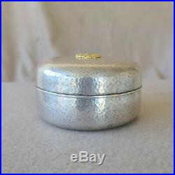 Rare Imperial Japanese Meiji Period Hammered 950 Silver Emperors Bonbon Gift Box