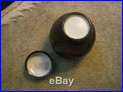 Rare Japanese Totai Tree Bark Cloisonne Ginger Jar, Meiji Period, Circa 1890