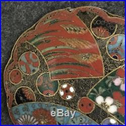 Rare Japanese antique Meiji period cloisonne brooch