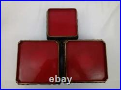 Set of Three Meiji Period Japanese Lacquer Stands
