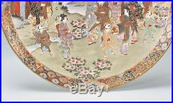 Stunning Japanese Meiji Period Satsuma Charger by Hakuzan Signed 32cms Diameter