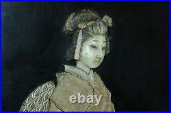 Superb Japanese Meiji period shibayama panel, circa 1900