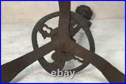 VG144 Antique iron candlestick Tsuba shape Japanese Edo period Meiji