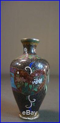 Very Fine Japanese 19th Century Meiji Period Cloisonne Enamel Vase
