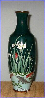 Wonderful Meiji Period Japanese Silver Wired & Wireless Cloisonne Enamel Vase